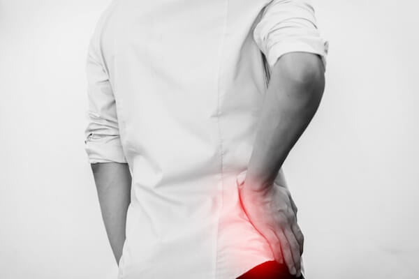 person with hip pain
