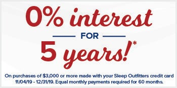 0% financing for 5 Years