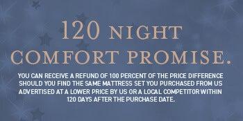 120 Night Comfort Promise.