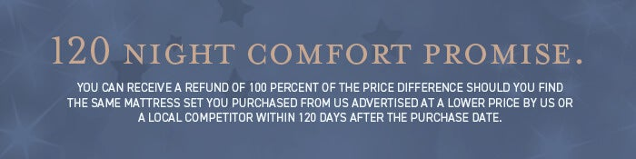 120 Night Comfort Promise