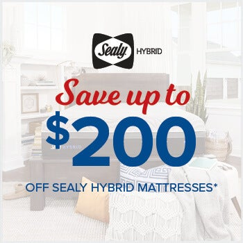 Save up to $200 on Sealy Hybrid