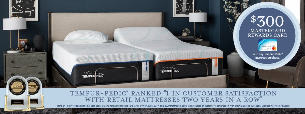 Get a Free Weekly Gift with any Tempur-Pedic mattress purchase during Sleep Outfitters Labor Day Super Sale