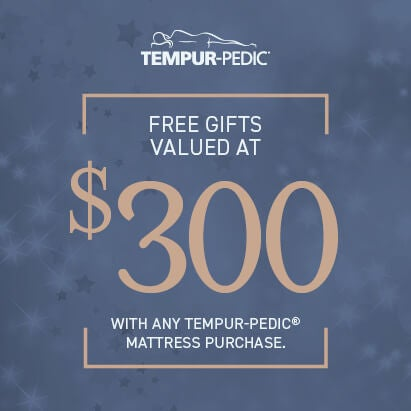 Receive 2 Free Pro+Cooling Pillows with Tempur-Pedic Mattress Purchase.